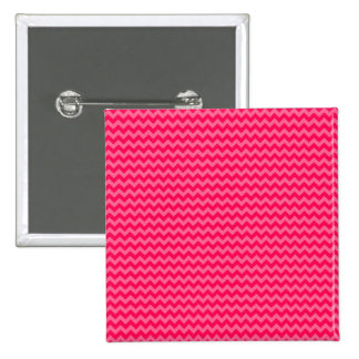 Pink on Pink Chevron Stripe 2 Inch Square Button
