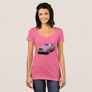 Pink on Pink Rolling Royal car ladies t-shirt