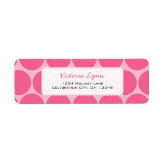 Pink On Pink Whimsical Dots Return Address Label