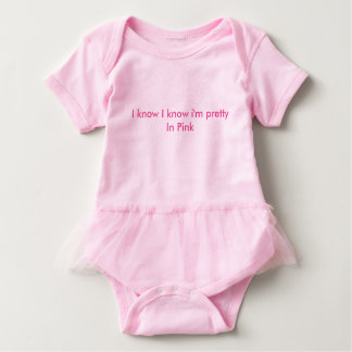 Pink One piece Tutu Baby Bodysuit