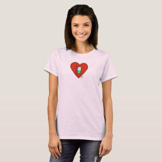 Pink Open Heart Shirt