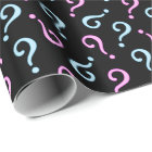 Pink or Blue Baby Reveal Wrapping Paper