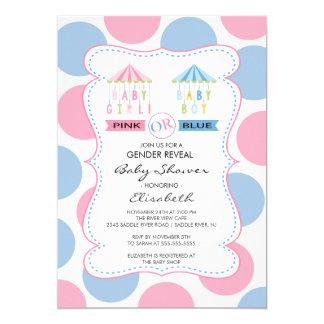 Pink or Blue Gender Reveal  Baby Shower Card