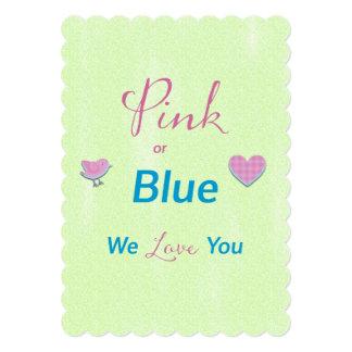 Pink or Blue Gender Reveal Card