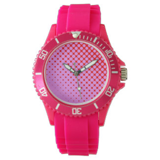 Pink or Red Sporty Pink Silicon Watch