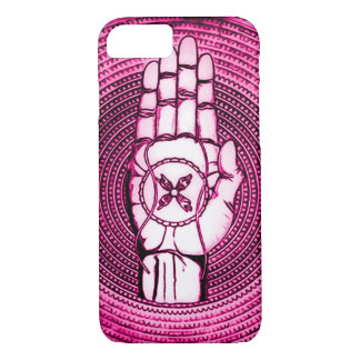 Pink Oracle Hand Art iPhone 7 Case