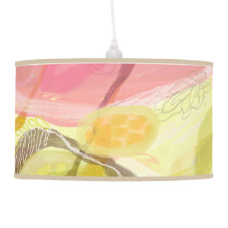Pink, Orange, Abstract Contemporary Pendant Lamp