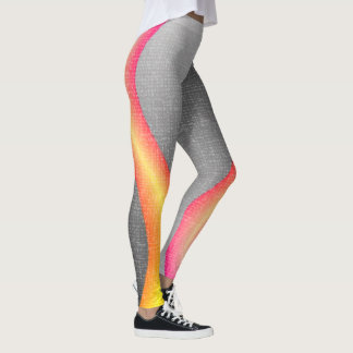 Pink, Orange and Yellow Gradient Wrap Leggings