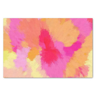 Pink, Orange and Yellow Watercolors Tissue Paper