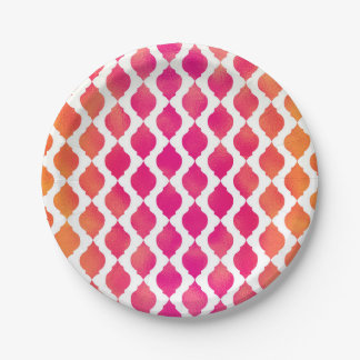 Pink & Orange Arabian Moroccan Glam Party Paper Plate