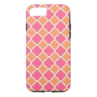 Pink Orange Argyle Diamond Tile iPhone 7 Case