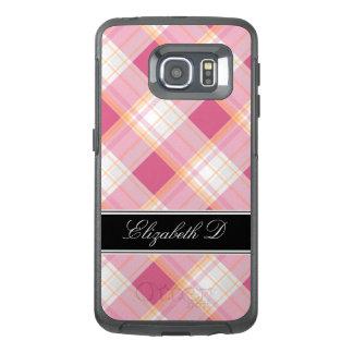 Pink Orange Black Plaid Samsung Galaxy S6 Edge