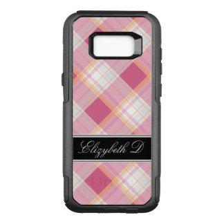 Pink Orange Black Plaid Samsung Galaxy S8 OtterBox Commuter Samsung Galaxy S8+ Case