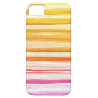 Pink Orange Brushstroke Watercolor Ombre Pattern iPhone 5 Cases