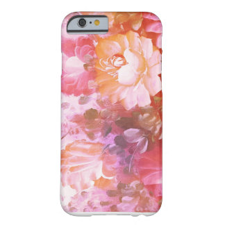 Pink + Orange floral abstract phone case