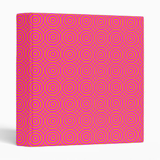 Pink/Orange Graphic Binder