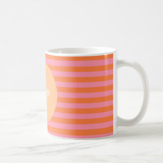 Pink Orange Lines Personalized  Mug
