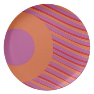 Pink Orange Modern Plate