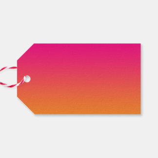Pink & Orange Ombre Gift Tags