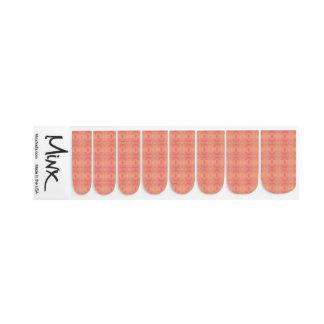 Pink Orange Plaid Nail Art Wraps Decals