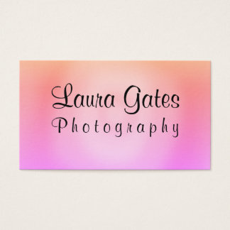 Pink Orange Purple Watercolor Photography Business Card