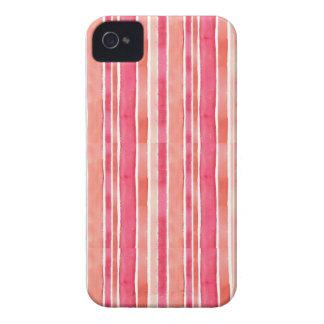 Pink & Orange Stripe iPhone 4 Case-Mate Cases