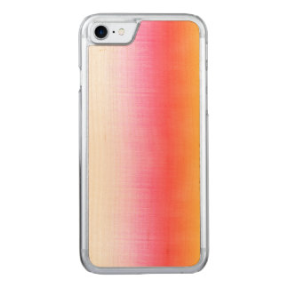 Pink Orange Yellow Ombre Watercolor Sky Carved iPhone 8/7 Case