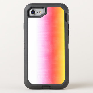 Pink Orange Yellow Ombre Watercolor Sky OtterBox Defender iPhone 8/7 Case