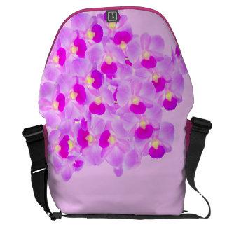 Pink Orchid Bouquet Messenger Bag