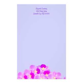 Pink Orchid Bouquet Stationery