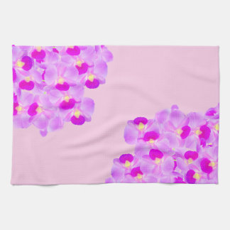 Pink Orchid Bouquet Towel