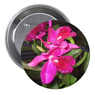 Pink Orchid Corsage Button