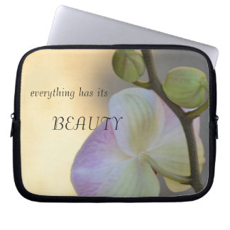 Pink Orchid Expression Beauty Laptop Sleeve