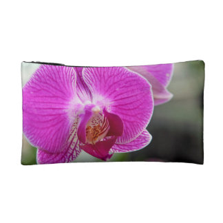 Pink Orchid Flower Cosmetic Bags