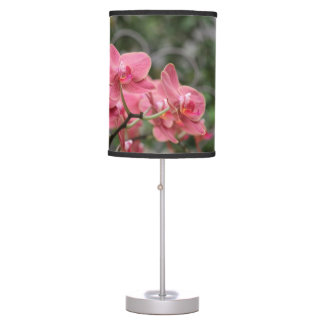 Pink Orchid flowers Desk Lamps
