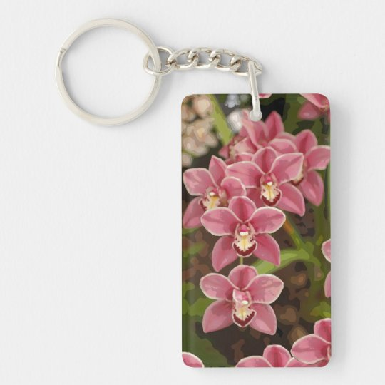 Pink Orchid keychain