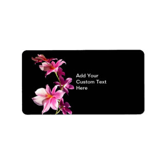 Pink Orchid. Label