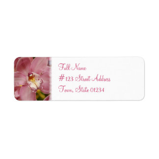 Pink Orchid Mailing Label