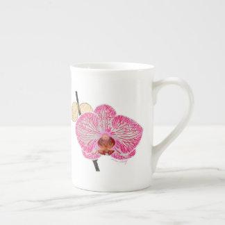 Pink orchid mug