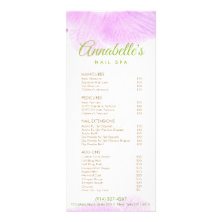 Pink Orchid Nail Salon Spa Price List Service Menu