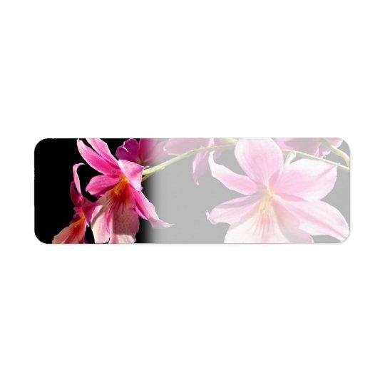 Pink Orchid. Return Address Label