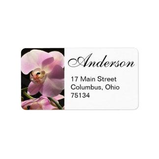 Pink Orchid Return Address Labels