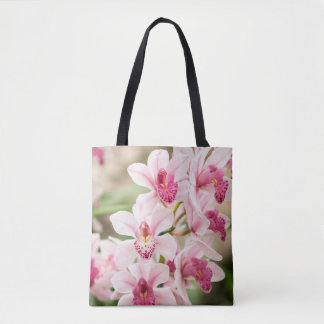 Pink Orchid Tote Bag Reusable