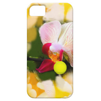 Pink orchid with tennis ball iPhone 5 cover