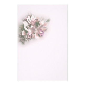 pink orchids 1 stationery