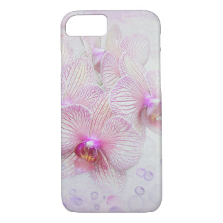 pink orchids and bubbles iPhone 8/7 case