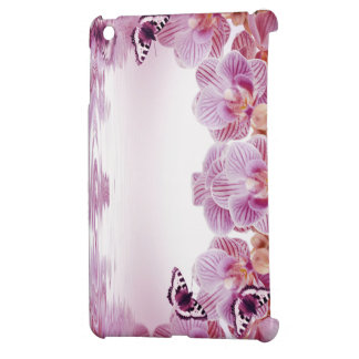 Pink Orchids and Butterfly  iPad Case