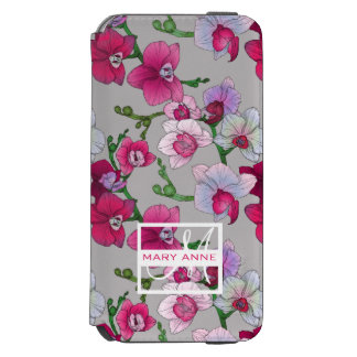 Pink Orchids In Bloom | Add Your Name Incipio Watson™ iPhone 6 Wallet Case