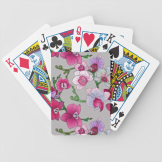 Pink Orchids In Bloom Bicycle Playing Cards