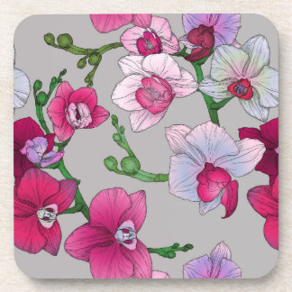 Pink Orchids In Bloom Coaster